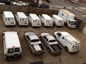 Dunwell Elevator - Fleet of Repair Trucks